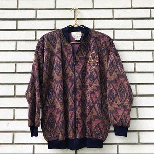 Vintage Neiman Marcus Embellished Track Jacket